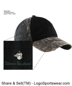 Camo Cap with Contrast Front Panel Design Zoom